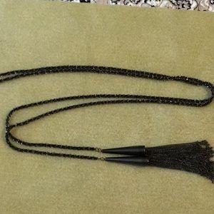 Kendra Scott phara necklace in gunmetal